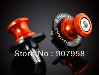 Motorcycle 6MM Orange Swingarm Sliders Spools Fit For YZF Year All