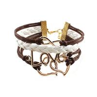 2014 fashion women  bracelet wholesale leather bracelet hot sell bracelet free shipping 140607