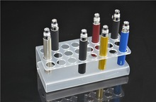 10PCS / LOT DHL 100% Acrylic Display Stand for E-Cigarett 24 pcs capacity for ego and EVOD