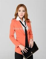 Newest 2014 Spring Formal Women's Blazer Coat Jacket Tops Professional Business Women Work Wear Blazer Tops Outwear Fall Blazers