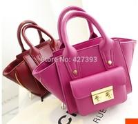 2014 new fashion  high quality  leather women's handbag  portable dual-use package small shoulder mini  smiley bag