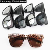 HR025 FREE SHIPPING Big sunglasses female fashion vintage black sunglasses male anti-uv sunglasses