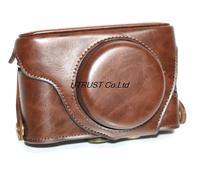 Dark Brown Color PU Leather Camera Case Bag for Fuji fujifilm X100S X100 S with Shoulder Strap