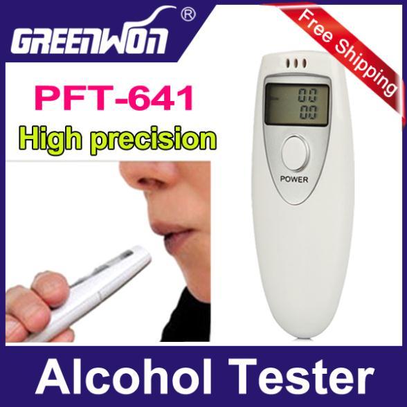2pcs/lot Prefessional Police Portable Breath Alcohol Analyzer Digital Breathalyzer Tester Body Alcoholicity Meter Alcohol(China (Mainland))