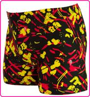 2014 Limited New Geometric Polyester Masculino Sunga Men Swimming Trunks Quality Spandex Swimwears Bermuda for free Shipping