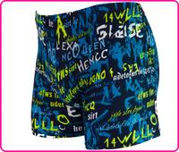 2014 new geometric polyester spandex real lacing swimwears men swimming Boxer Beach shorts man Swimwear trunks Freeshipping