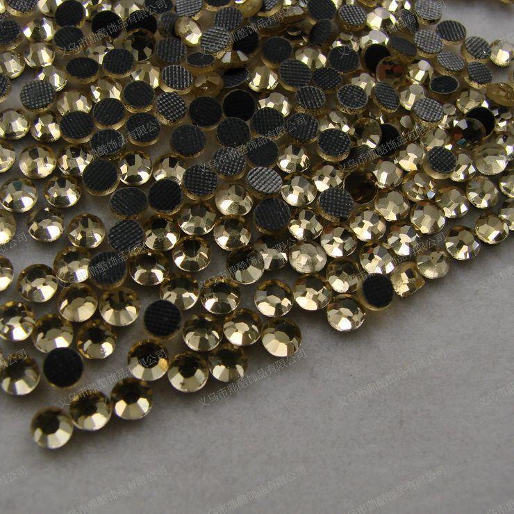 Free shipping 1600pcs SS6 3mm Light yellow /// resin rhinestone Flat drill DIY jewelry,women bra set,Clothing accessories(China (Mainland))