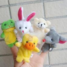 5pcs Set Kid Baby Children Velvet Finger Animal Puppet Play Learn Story Doll Toy ( Random Color)(China (Mainland))