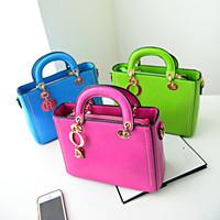 2014 new fashion candy color leather  women's handbag  shoulder bag messenger bag  small vintage bag