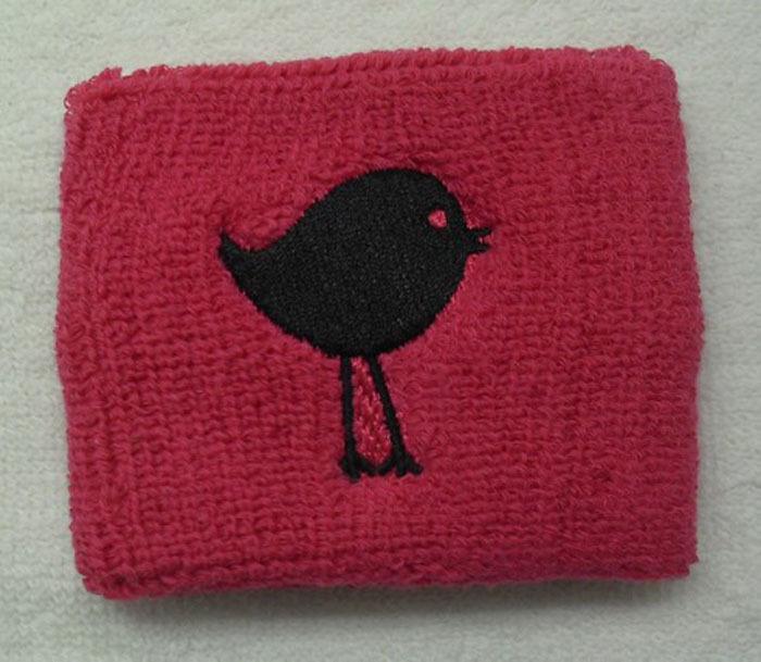 Free shipping(500pieces) customize high quality embroidery wristband sweatband 80% cotton + 12% elastic + 8% nylon 7cm-8cm(China (Mainland))