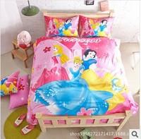 Free shipping children three-piece cartoon bedding bag printed cotton bedding