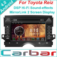 2014 Android 4.0 OS Car DVD GPS Player for Toyota Reiz Dual Core 1GHZ CPU 512MB DDR3 3G Wifi DVR 1080P Russian Menu