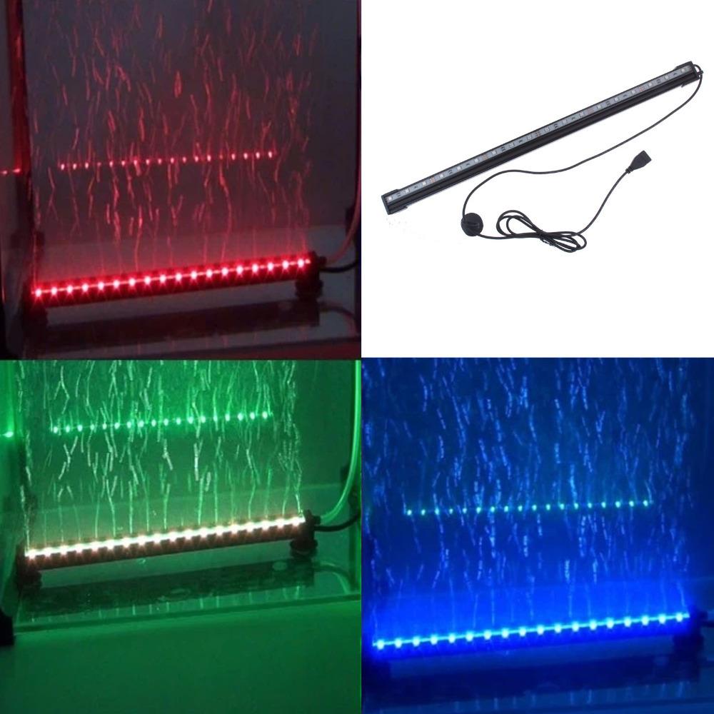 Underwater RGB Led Light 18 LED Colorful Air Bubble LED Aquarium Light Fish Ta