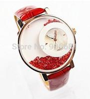 Fashion Geneva brand watch women rhinestone quartz dress wristwatch ladies leather  band luxury watches Alloy relogio