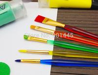 6pcs/set, Decorating Fine Painting Brush Fondant Dusting Sugarcraft DIY Tool (2014124)