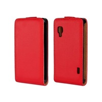 10 color For LG Optimus L5 II Dual E455 Flip Genuine Leather Case Pouch Cover