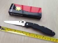 Top Quality Spyderco C07G3 Tactical Knife,VG-10 C07 Camping Knives,G10 Handle Outdoor Survival Folding Knife.