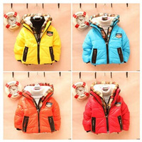 Sale baby winter coats plaid cap with double zippers Outerwear kid's jacket warm fashion coat