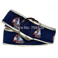 Free Shipping Retail Classic D-ring Belts Children's Ribbon Belts Kids Woven Belts Two Length(2T, 4T)