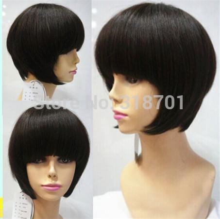 Dark Brown Straight Bob Haircuts