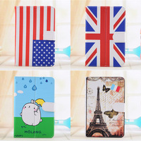 120pcs Cartoon design 7'' Universal Case Lichi PU Leather Case with Stand for 7inch Android Tablet PC MID free shipping dhl