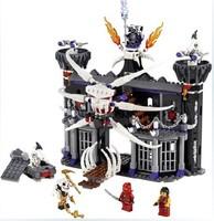 ninjago Dark Phantom Ninja series fortress castle building blocks assembled toy