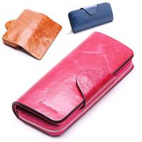 2014 new Handmade brand Unisex wallet fashion women zipper coin purse 100% full genuine leather women clutch  Value for money