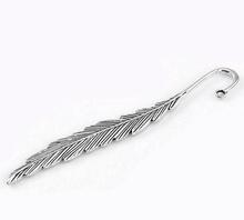 "Fashion 5PCs Silver Tone Feather Bookmarks 11.7cm(4 5/8"") long (China (Mainland))"