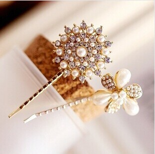 2 types Baby Girl Women Hairpins Hair accessories Pearl Barretes Jewelry(China (Mainland))
