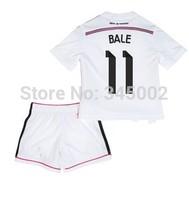 14/15 REAL MADRID Home Kids youth Full Set (jersey short ) RONALDO BALE, 2015 Real Madrid girls boys soccer jersey