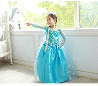 2014 girls frozen dress , elsa dress ,frozen elsa dress kids,5pcs/lot   SJX04