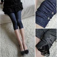 21 Styles New 2014 Spring-Summer Women's Modal Cropped Leggings Casual Denim Slim Thin Stretch Leggings Free Shipping KZ 046