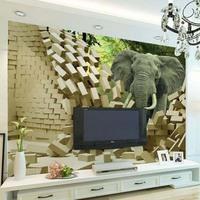 3D stereo elephant wallpaper wallpaper wall mural backdrop sofa bedroom hallway entrance
