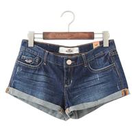 Fashion vintage 2014 high waist denim shorts perfect curve slim jeans shorts all-match
