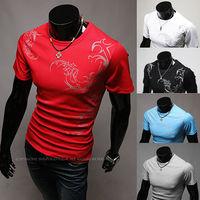 HOT Sales ! Free Shipping 2014 mens t shirt Men's Fashion Short Sleeve Tee T Shirts,5 Colors,O-Neck, Good Quality, Drop Shippin