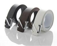 Men's Classic belts fashion PU leather belt quality letter Z belt round buckle male pure color belt Joker leisure belts x 10pcs