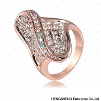 2014 Newest Ring 18K Rose Gold Plated and Luxury Austrian Crystal Ring Atactic Shape Engagement Rings Fashion Jewelry Ri-HQ0086
