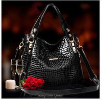 "The new 2014 leather handbag Crocodile grain fashion female bag worn one shoulder bag ""women messenger bags"" women handbag"