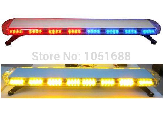 Free shipping low profile GEN III 1 Watt super bright LED strobe Lightbar,truck lightbar(amber/blue/red/white)ESL3012(China (Mainland))