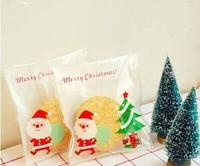 Christmas gift packaging bag self adhesive bags biscuit bags cookie bags