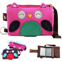 Fashion zipper cartoon ethnic handbag mini kawaii owl bag wallet  for girls women
