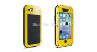 Original LOVE MEI Aluminum Metal with Gorilla Glass Weatherproof Dirtproof Shockproof Case For iphone 5C