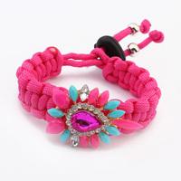 Factory Outlets 2014 Summer Hot Selling 5 Colours Colorful Handmade Woven Women Bangle Bracelets ~PB339