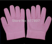 Superdealer- 2pcs(=1pair) New silicone Moisture gel glove  Spa gel glove free shipping