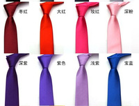 high quality solid color 5cm student and groom neck tie wholesale