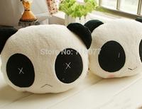 Hot New car pillow thicken panda car headrest cartoon panda car headrest pillow 2 PCS Car neck support pillow  free shipping