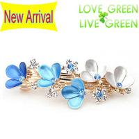 2014 new arrrival Free Shipping women wedding bridal rhinestones flower Hair jewelry Headress hairpin barrettes accessories 2007