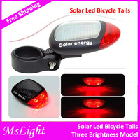 2014 New ! Solar Led Bicycle Tails , Led Tails with 2 Red Leds Solar Led lamp