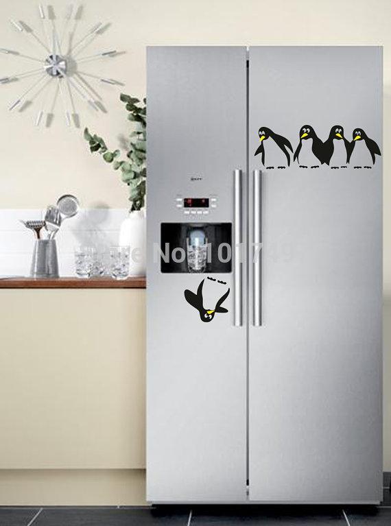 2014 New Design funny kitchen fridge sticker , fridge decals dining room kitchen decorative wall stickers(China (Mainland))