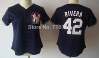 Free Shipping Women's Baseball #42 Mariano Rivera Jersey Cheap Authentic Cool Base Stitched Jersey china Best Quality